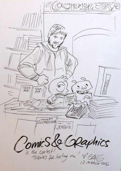 Craig Thompson Signierstunde 12. März 2016 bei Comics & Graphics Bild 3