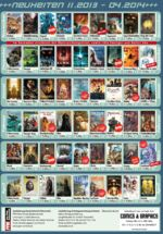 Splitter Herbst / Winter 2013 bis 2014 Comic Programm