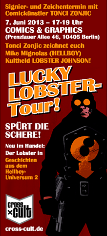 hellboy Lobster Johnson Comic Signiertermin mit Tonci Zonjic