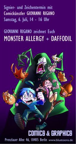 Monster Allergy Daffodil Comic Signiertermin mit Giovanni Rigano
